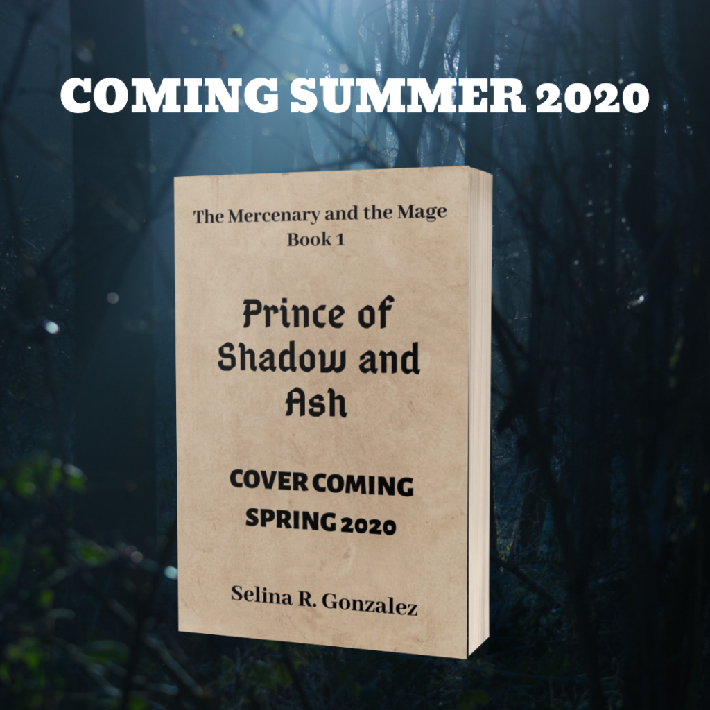 mock-up image of Prince of Shadow and Ash. Cover coming spring 2020.