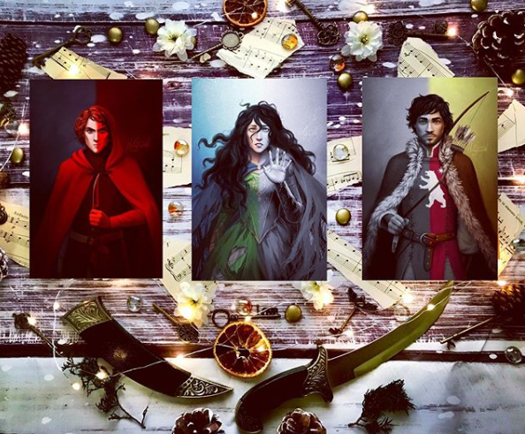 Photo of art characters from The Soul Crier by Becky Gaines